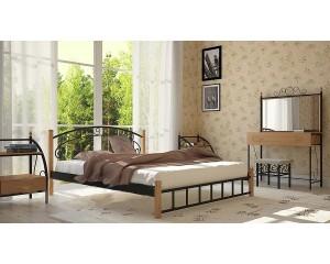 Кровать Афина на деревянных ногах